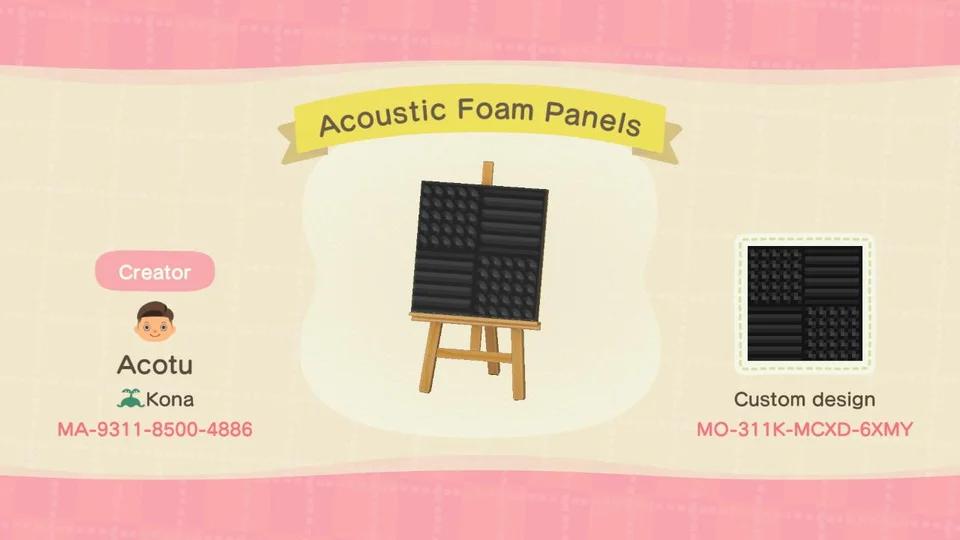 Acoustic Foam Panels Wallpaper Design Acqr In 2020 Animal Crossing Animal Crossing Qr Animal Crossing Game