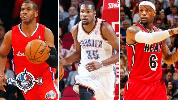 Chris Paul, Kevin Durant, LeBron James