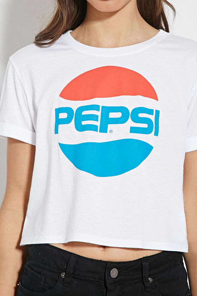 ece3180923740 Pepsi Graphic Crop Top