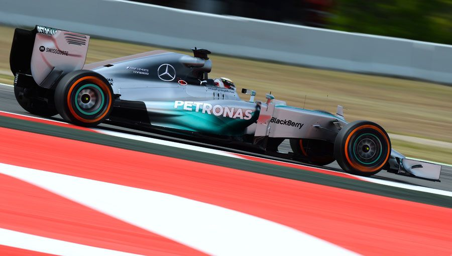 Lewis Hamilton out on track during qualifying