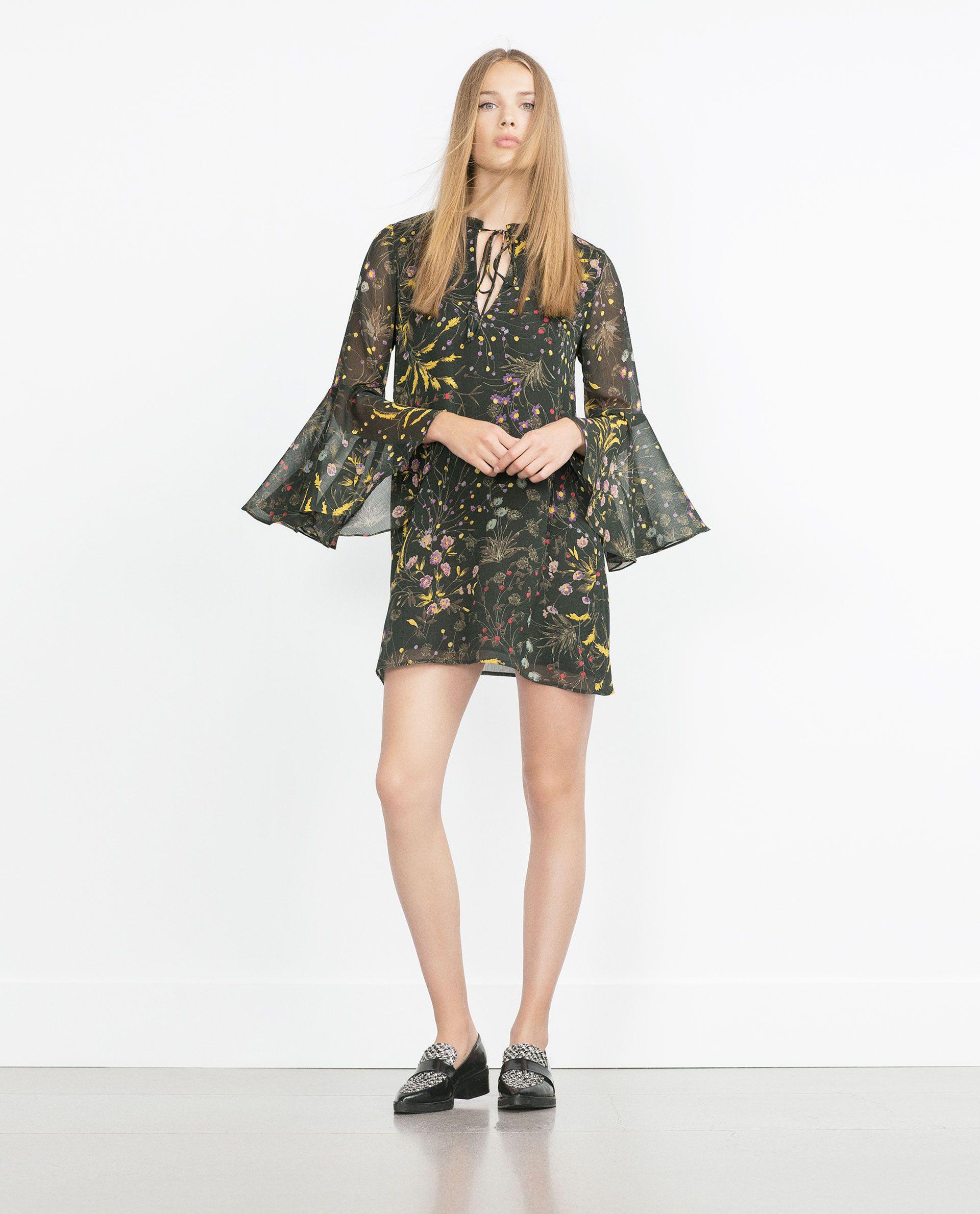 FLORAL PRINT DRESS - Collection - Woman - NEW IN | ZARA Ukraine