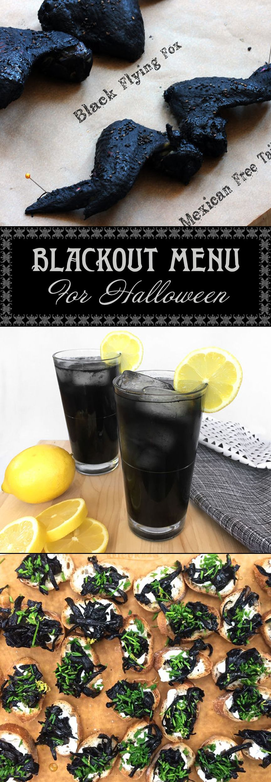 Blackout Menu for Halloween Halloween food for party