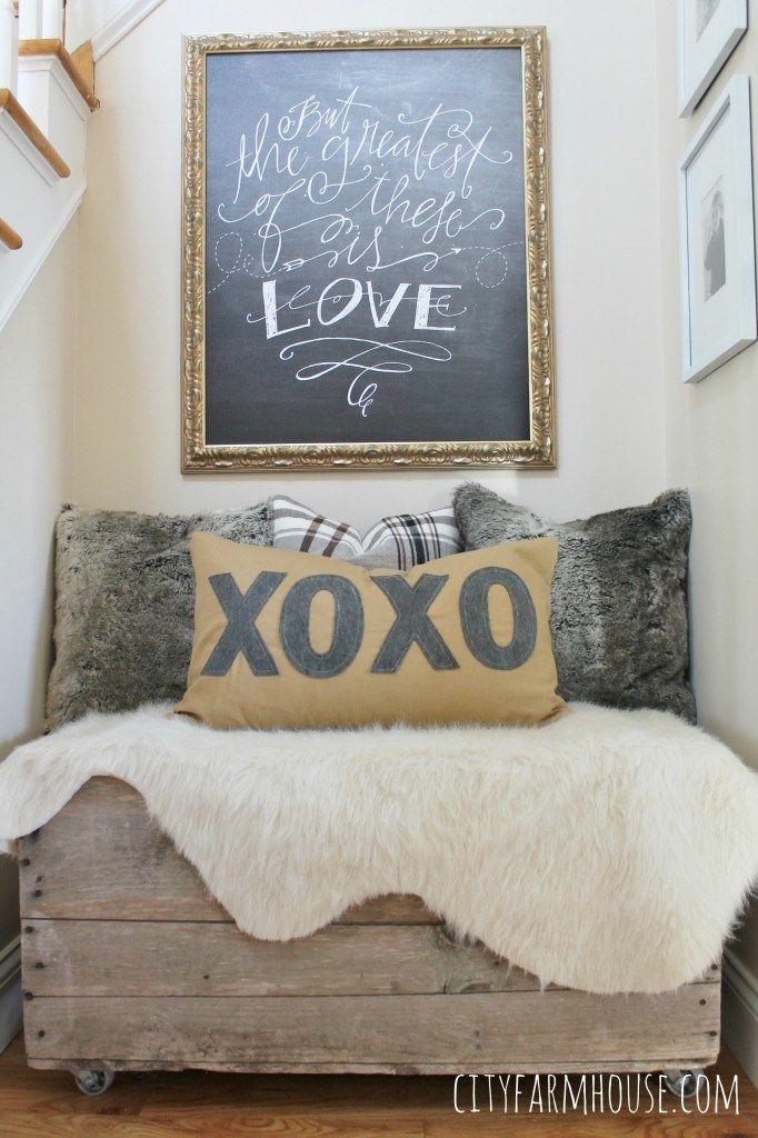 Anthro Inspired XOXO Pillow