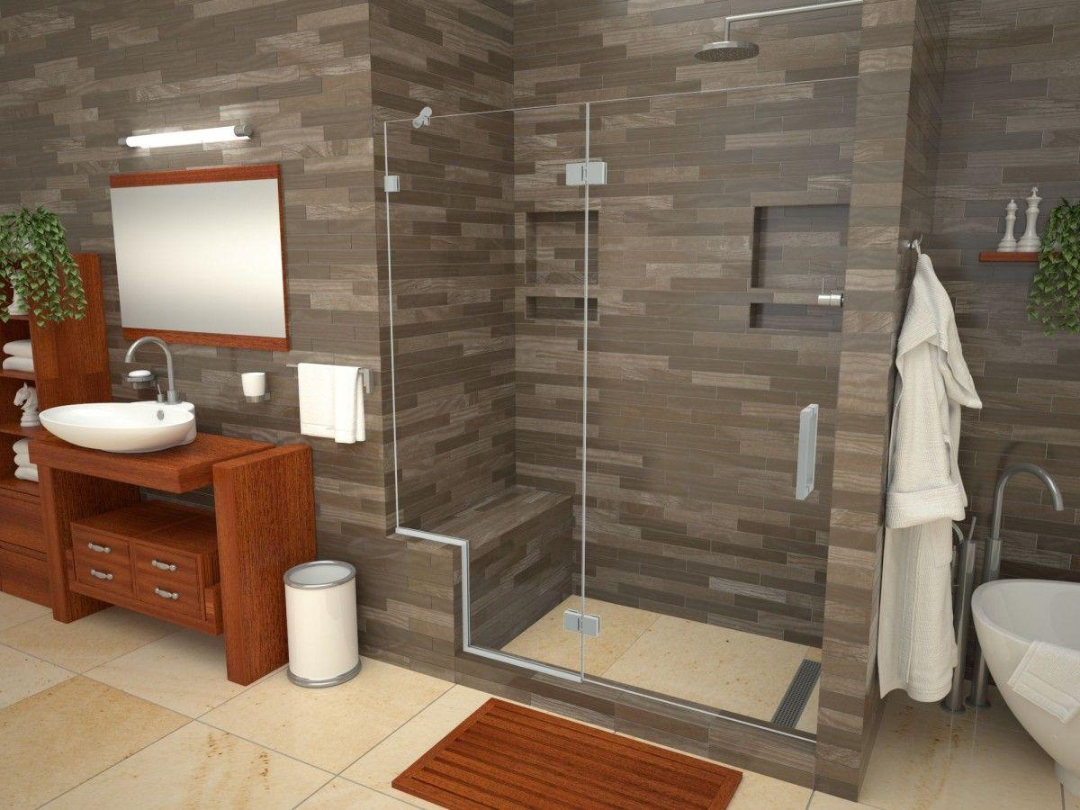 Base N Bench Kit Redi Trench Right Drain Single Curb Shower Pan