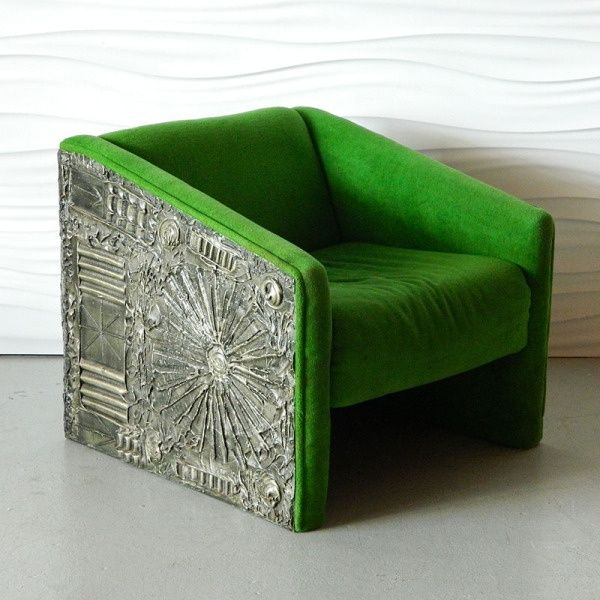 Brutalist Style Furniture | HA 6052 Adrian Pearsall Paul Evans Style  Brutalist Lounger/