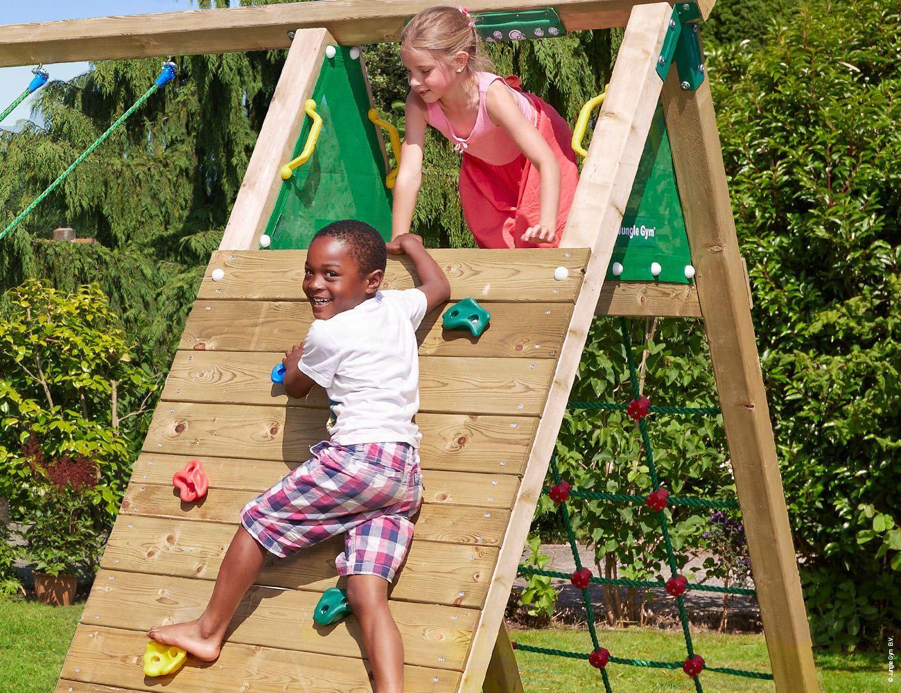 Klettergerust Garten Tower Climb Playset Outdoor Backyard Play Wooden Climbing Frame
