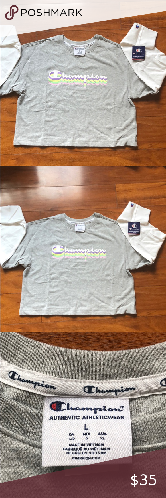 Nwt Champion Authentic Athletic Wear Large Athletic Wear How To Wear Sweatshirt Tops [ 1740 x 580 Pixel ]