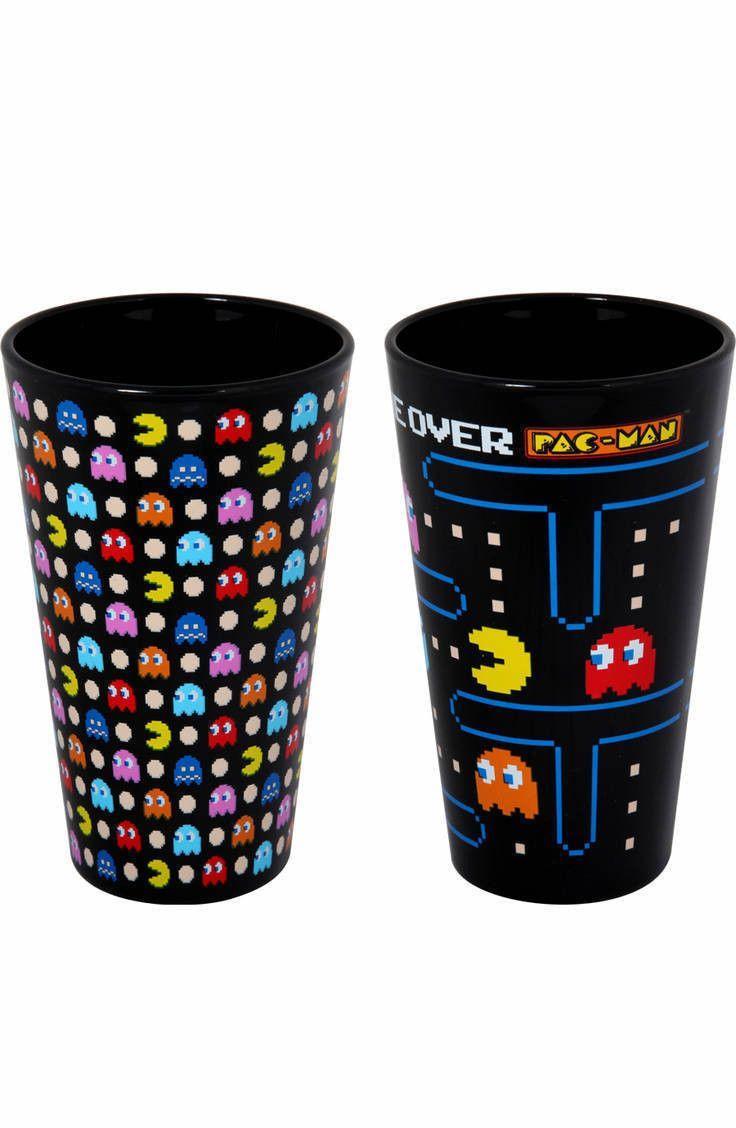 Pac-Man Glass Set: Video Games PAC-MAN Glassware