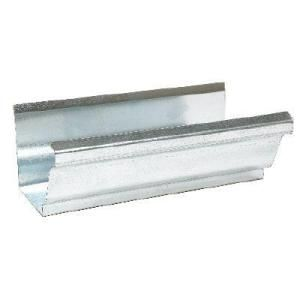 Amerimax Home Products 4 In X 10 Ft Galvanized Steel K Style Gutter Mill Finish 1400700120 The Home Depot Galvanized Steel Galvanized Gutters Galvanized