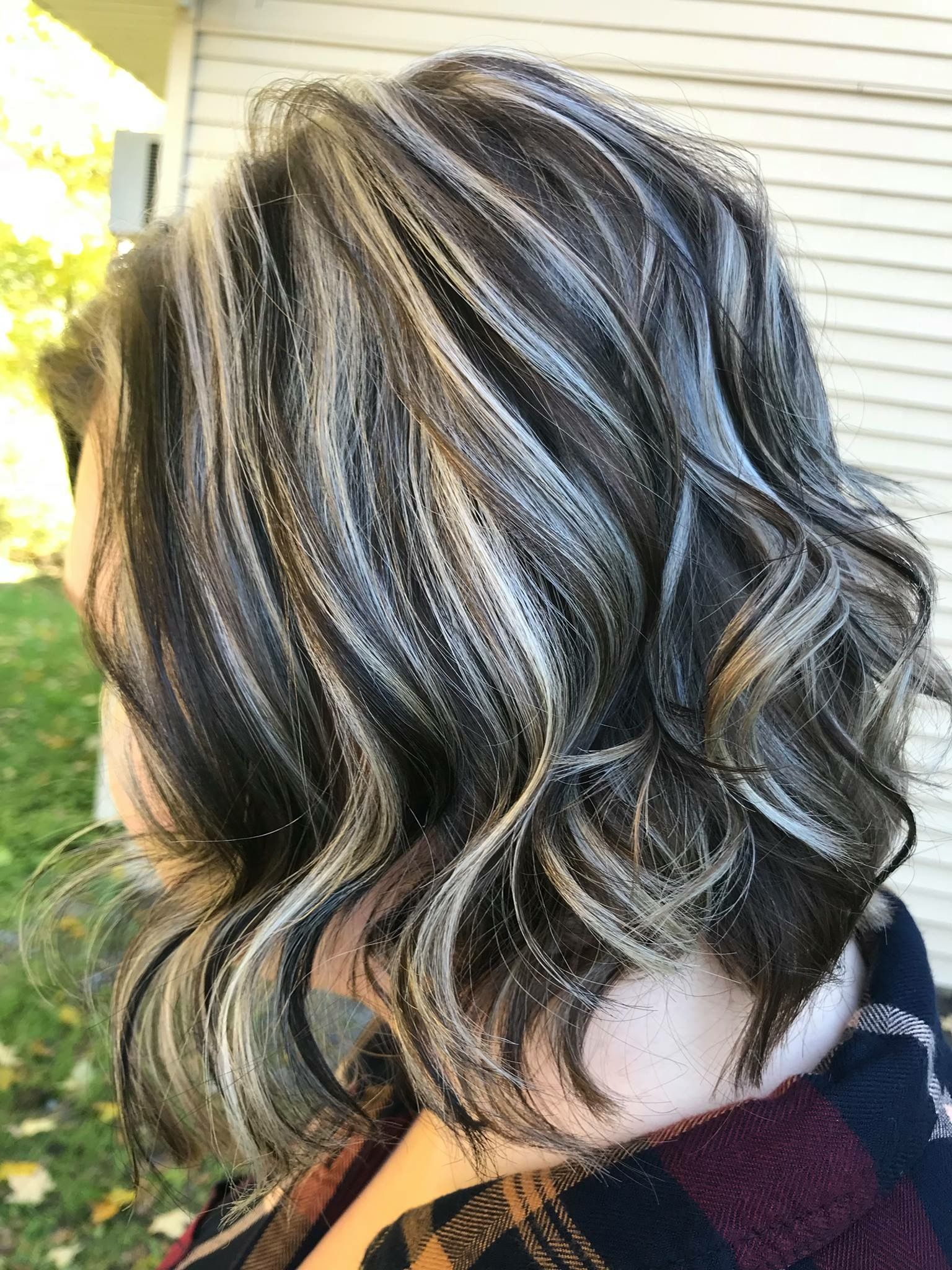 Matur blonde highlights black under hair com