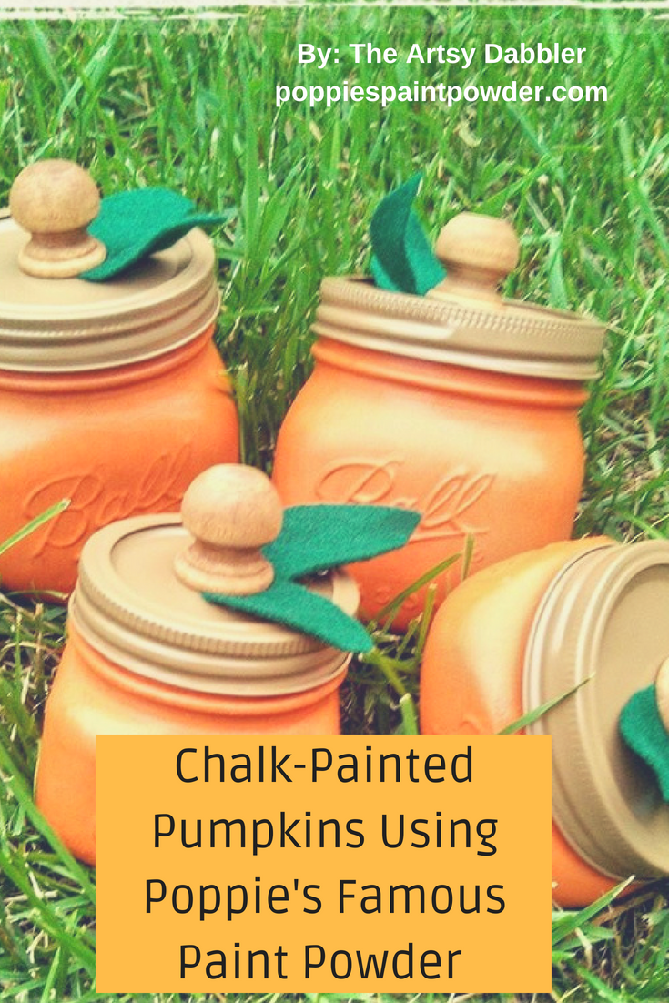 Let your imagination run wild when using Poppie's Paint Powder. Just check out how Jennifer MillerThe Artsy Dabblerhas created a fall harvest with her Poppie's. Stop over to her Face book page and show her some love. she always has new and exciting ideas that she is willing to share.