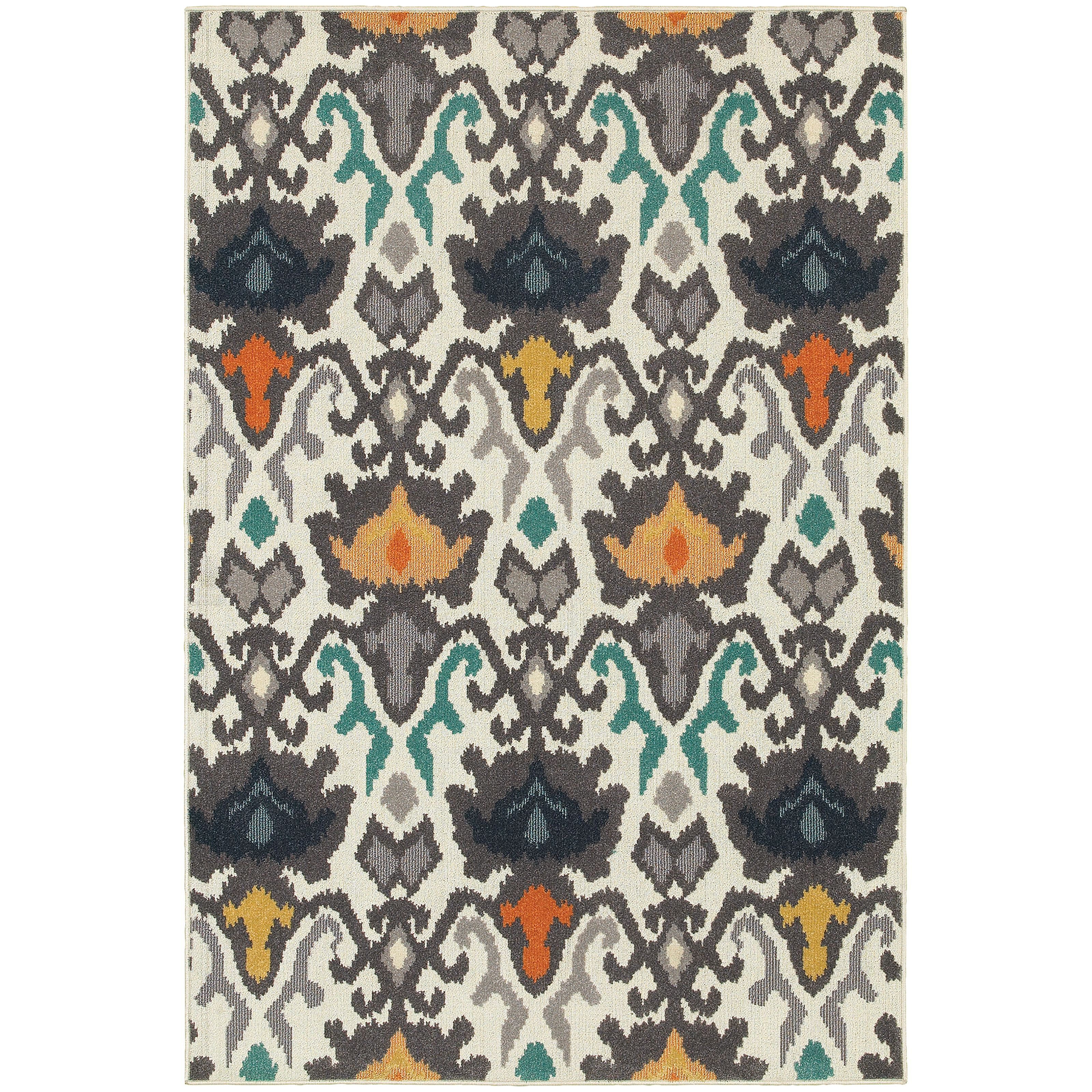 Stylehaven Tribal Ikat Ivory Multi Indoor Outdoor Area Rug 7 10x10 10 7 10 X 10 10 Cool Rugs Colorful Rugs Area Rugs