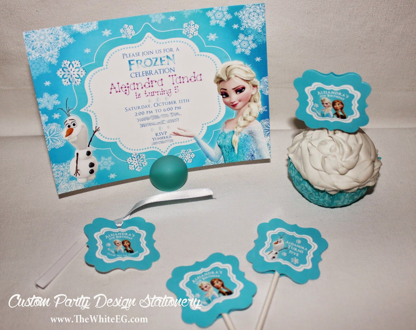DISNEYs FROZEN Theme Birthday Party Ideas FREE Printable Thank You