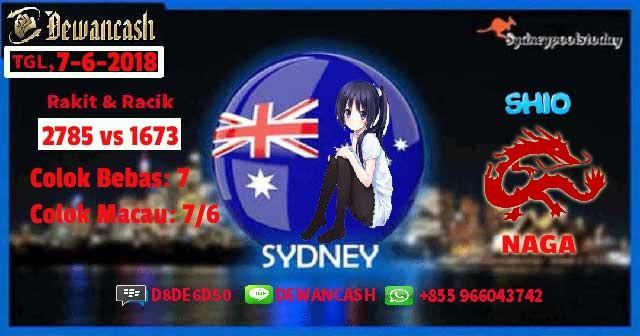 Prediksi Top Togel Sydney Tanggal 7 JUNI 2018: Ai : 2785