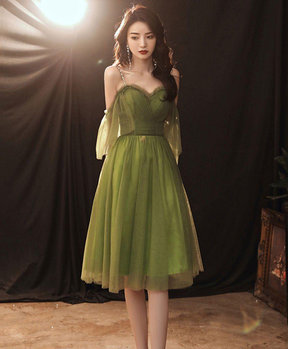 Simple Green Tulle Short Prom Dress Green Evening Dress In 2021 Green Evening Dress Short Prom Dress Simple Green Dress [ 1200 x 990 Pixel ]