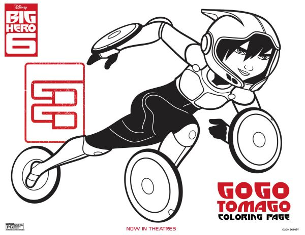 Huge Selection Of BIG HERO 6 Coloring Pages Activity Sheets And Printables For You