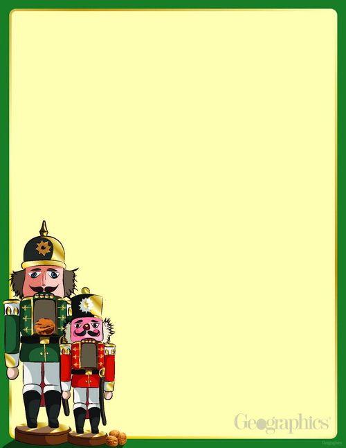 Nutcracker Christmas Letterhead Gold Foil X Pk