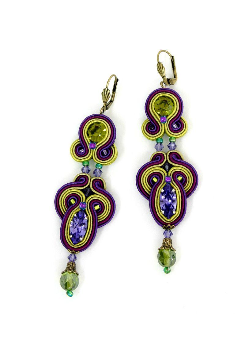 Kiwi Kiwi Dori Csengeri Hand Embroidered Jewelry Haute