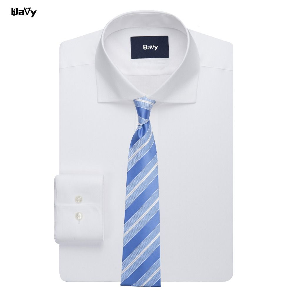 Click To Buy Davy Custom Made Mens Dress Shirts Long Sleeve Solid