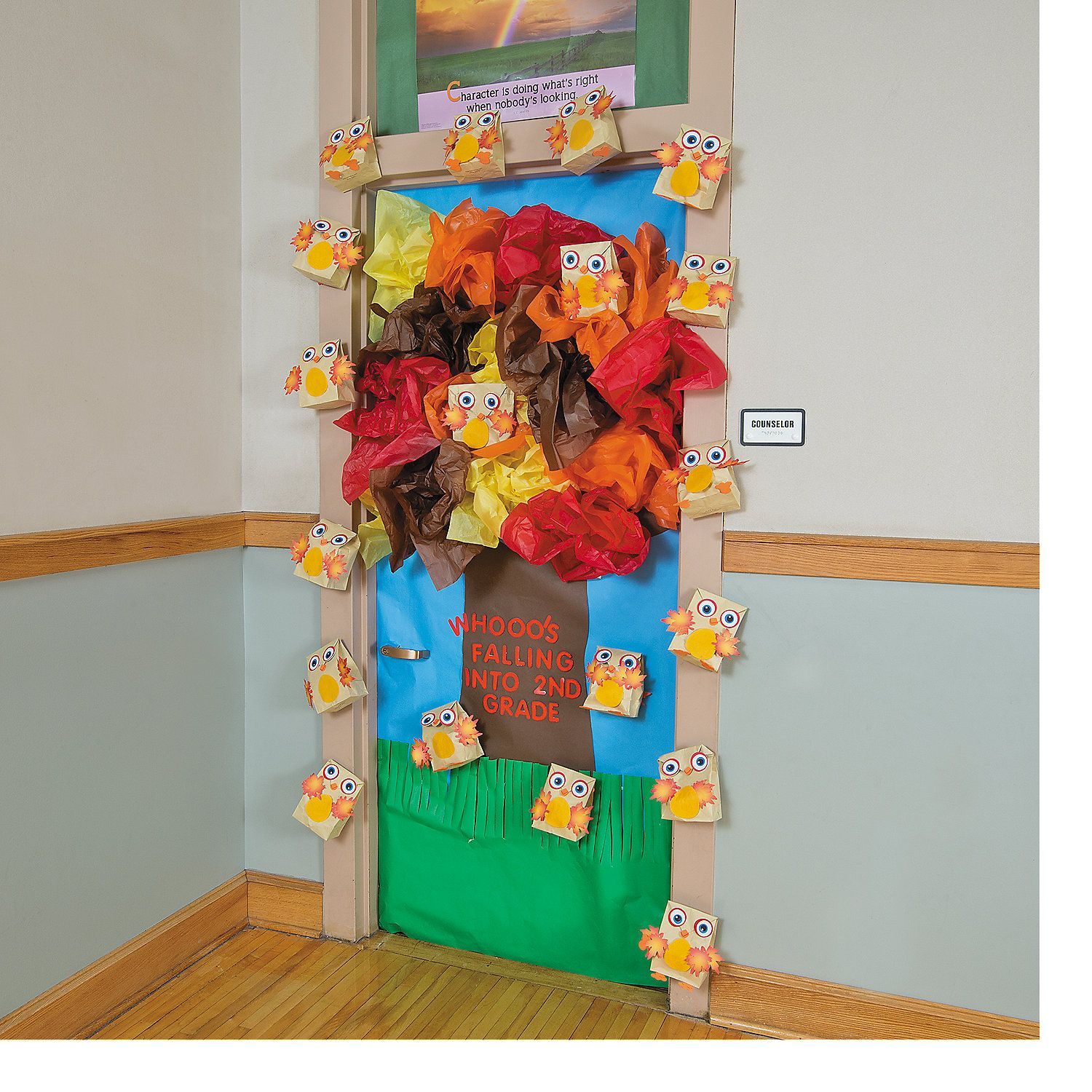 Classroom Door Decorations For Fall look who's falling for a good book. fall tree door decoration idea
