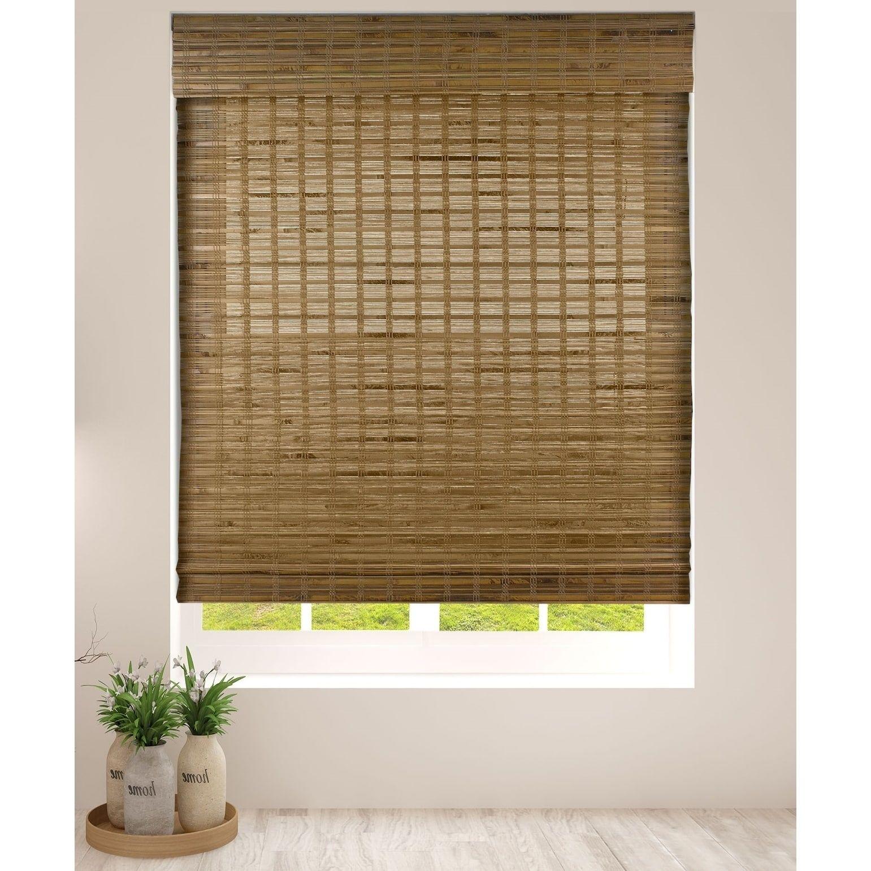 Arlo Blinds Dali Native Cordless Lift Bamboo Roman Shades 36 Inch