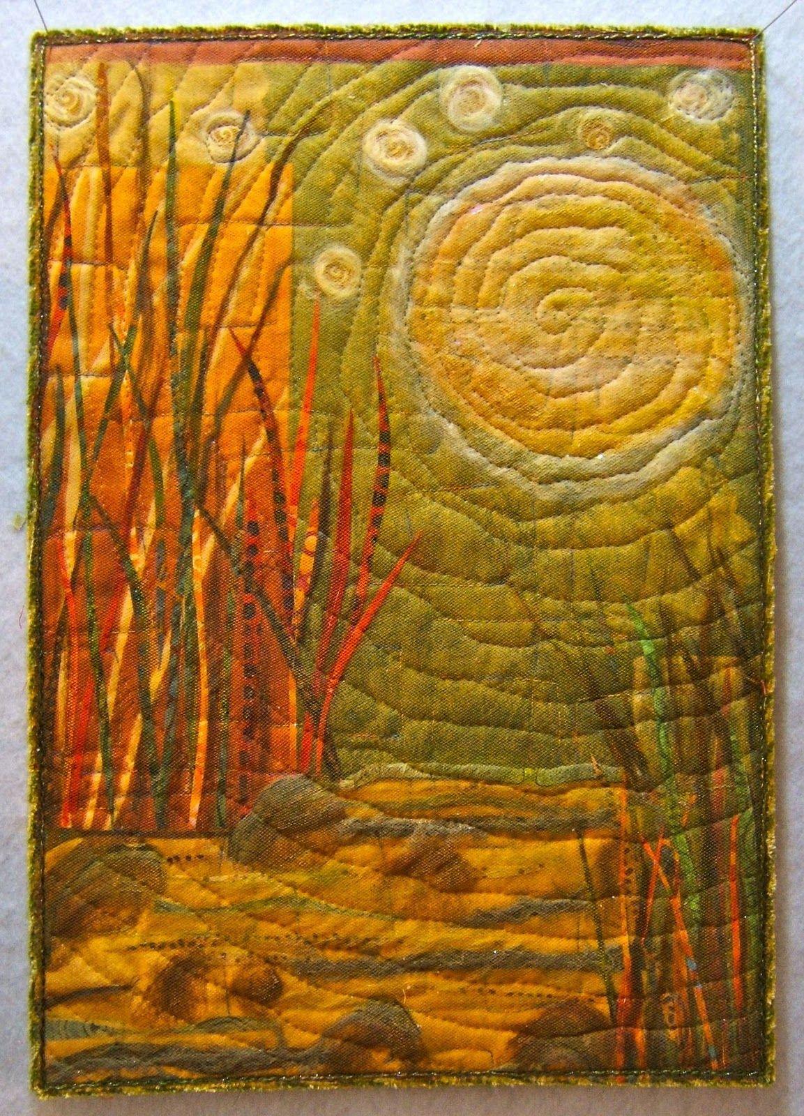 Nellie's Needles: Art quilts Moonlit Nellie Durand