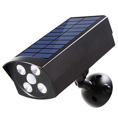 Nice Innogear Usb Solar Powered Motion Sensor Lights Dummy Camera Outdoor Spotlight Led Motion Sensor Lights Outdoor Motion Sensor Lights Outdoor Solar Lights