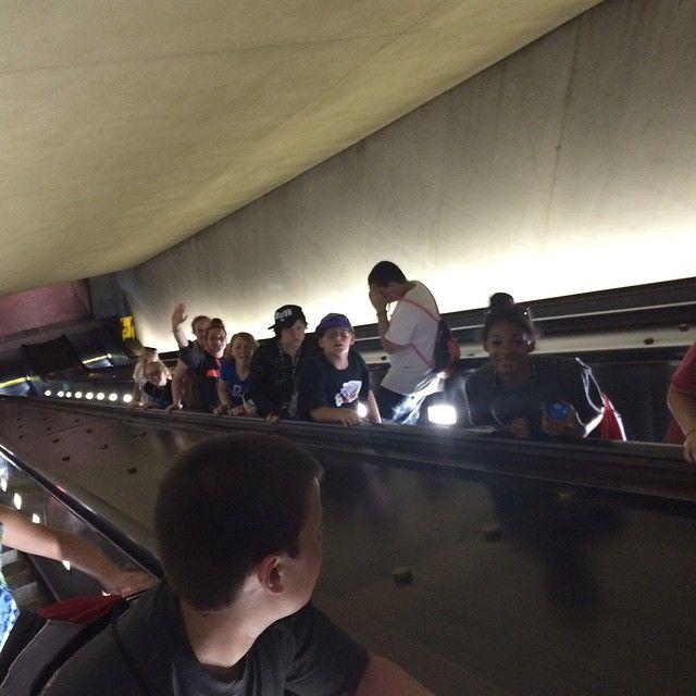 Long escalators in the Metro #clv2019