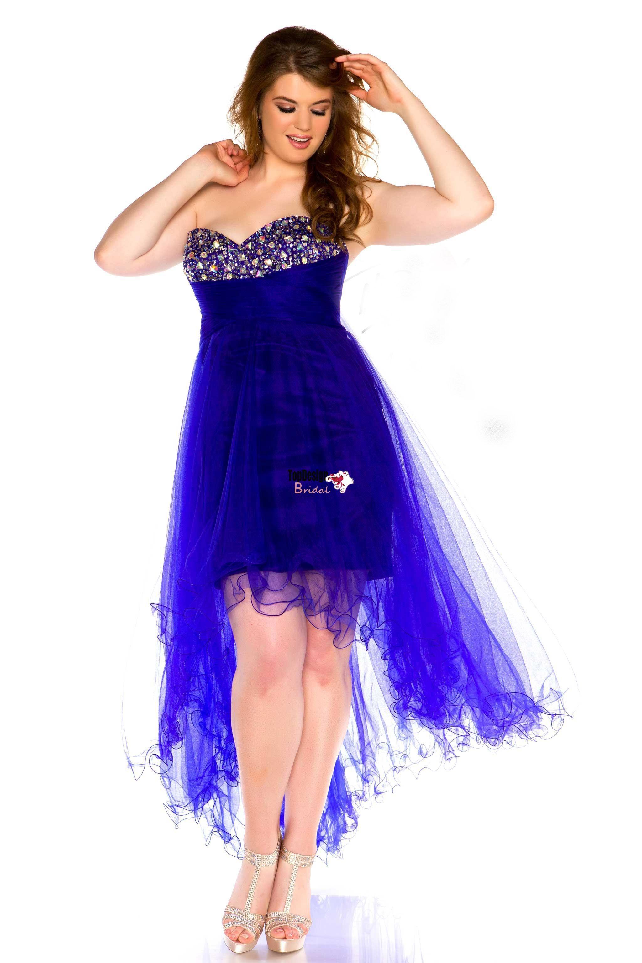 Wholesale vestido de festa Stunning high-low strapless plus size ...