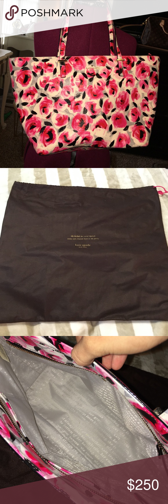 Kate Spade Tote New perfect condition. Bought in January at Nordstroms. Comes with dust bag. Kate Spade Bags Totes