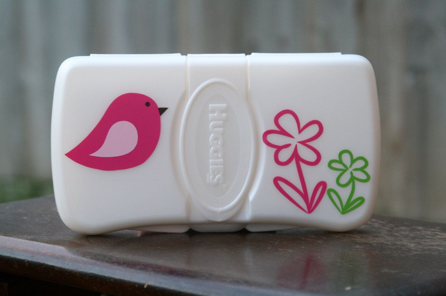 Bird & Flowers Personalized Baby Wipes Case - Travel Size