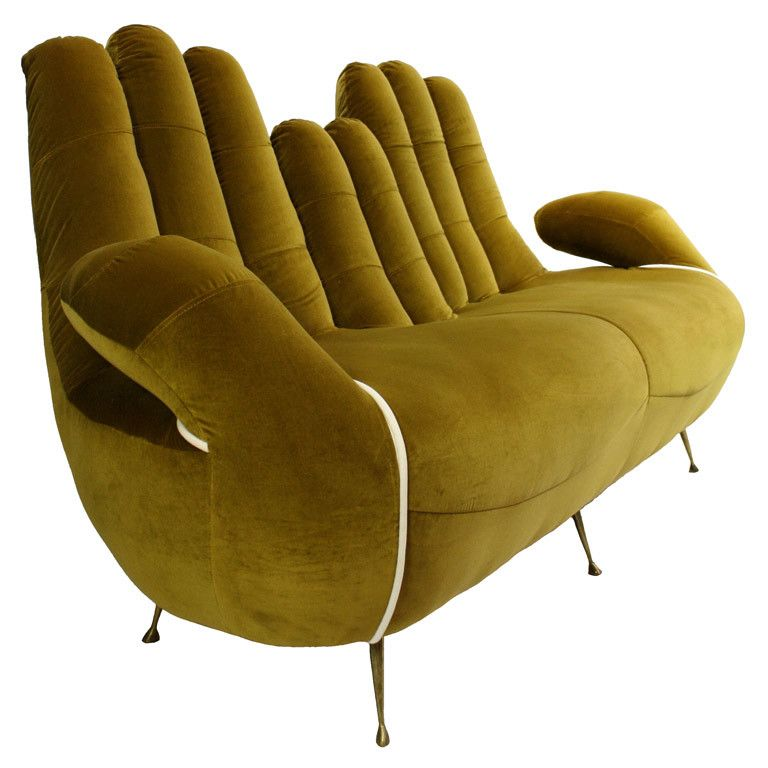 An Italian 50's Sofa In The Form Of Cupped Hands...probably have to