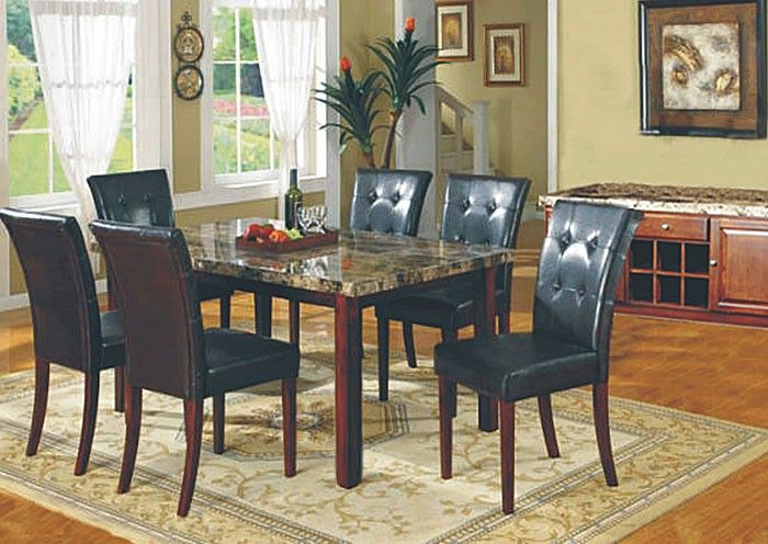 Faux Marble Dining Room Table And 4 Chairs Dining Room Table