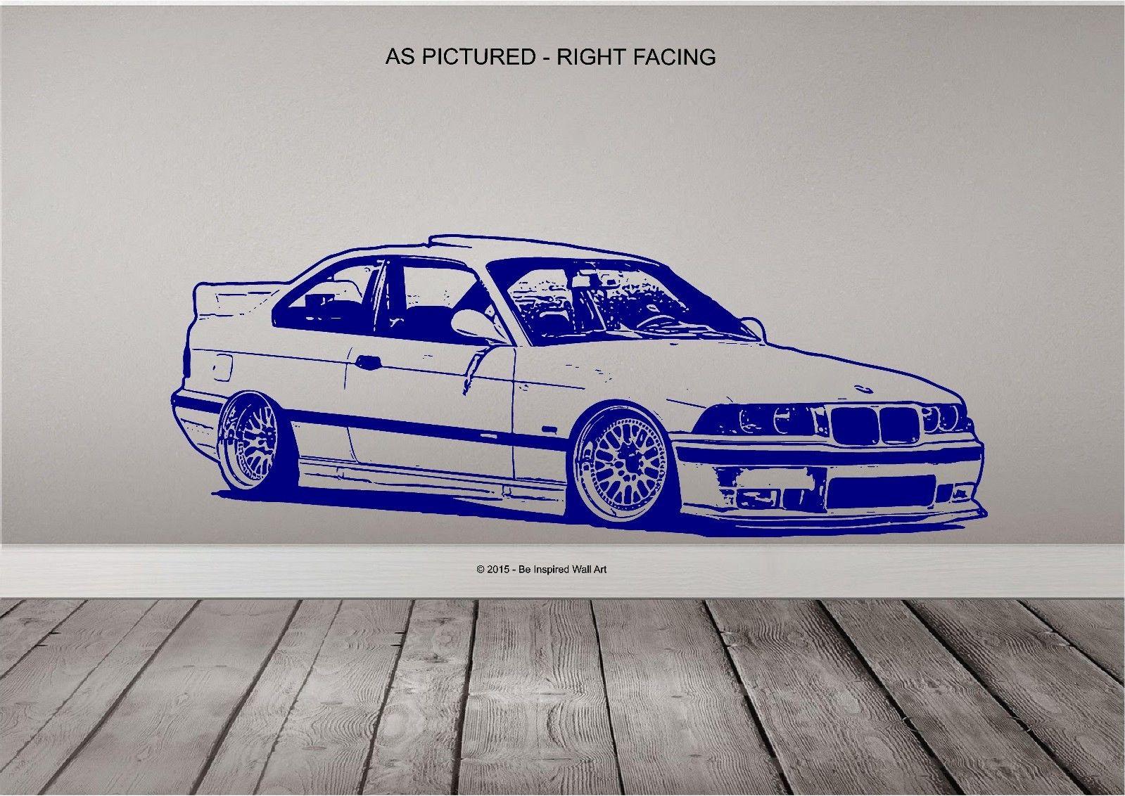 Bmw E36 M3 - Wall Art Sticker | Rysunki