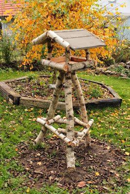 vogelhaus birkenholz vogelfutterhaus bauen   zahrada   vogelfutterhaus
