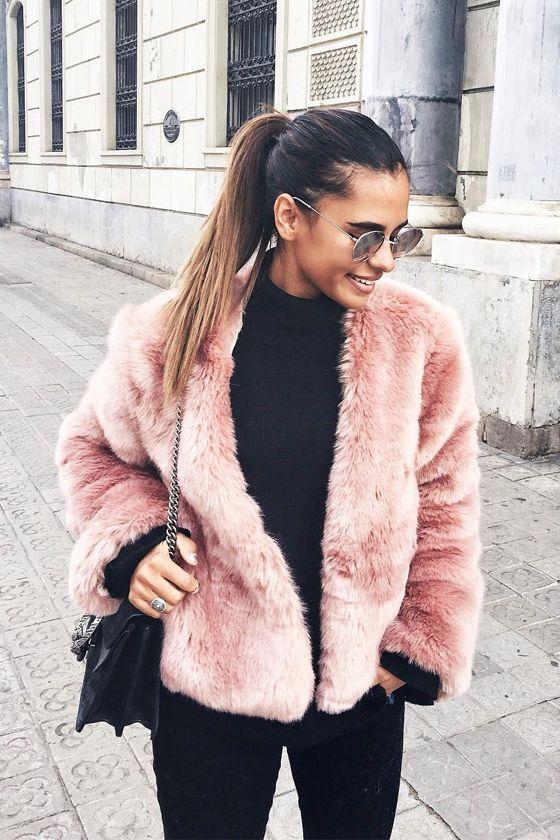 Women's Clothing Jackets & Coats Objective New Fashion 2017 Autumn And Winter Faux Fur Womens Coat Rabbit Fur Fox Fur Long Short Full Sleeve Female Ladys Dress More Discounts Surprises