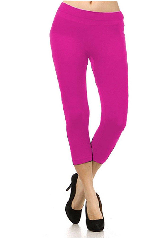 women's solid plus size capri leggings many colors available