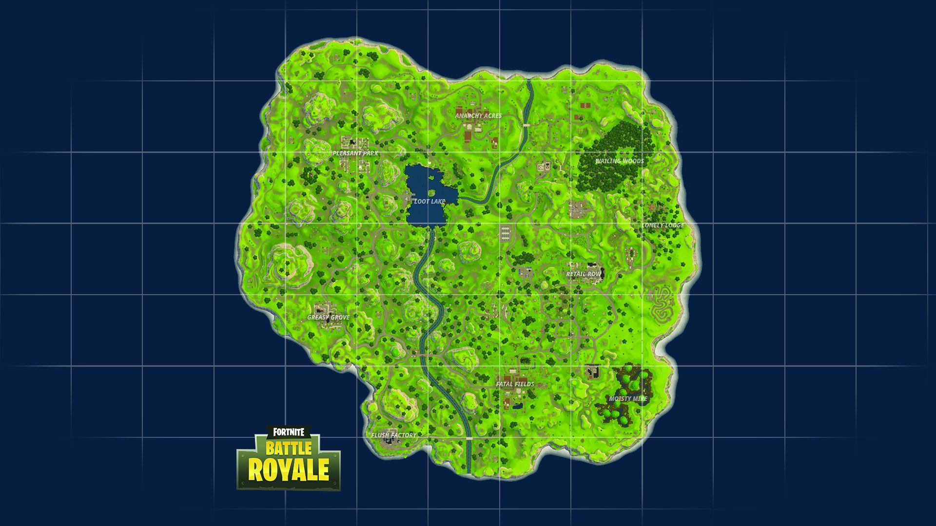 Fortnite Battle Royale Full Map Desktop Background Wallpaper For