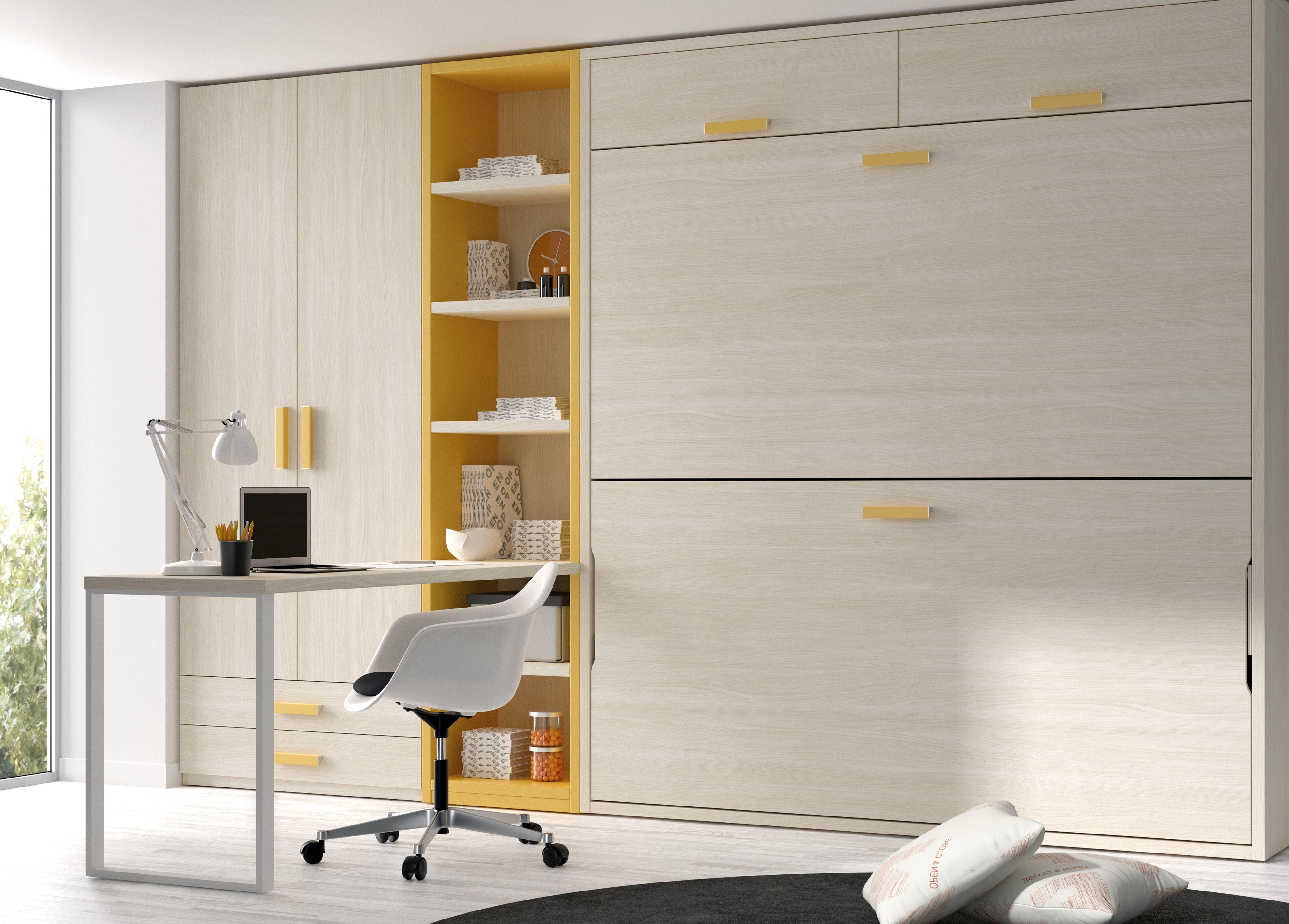 Otra buena solucion para espacios reducidos dos camas for Muebles juveniles zona sur