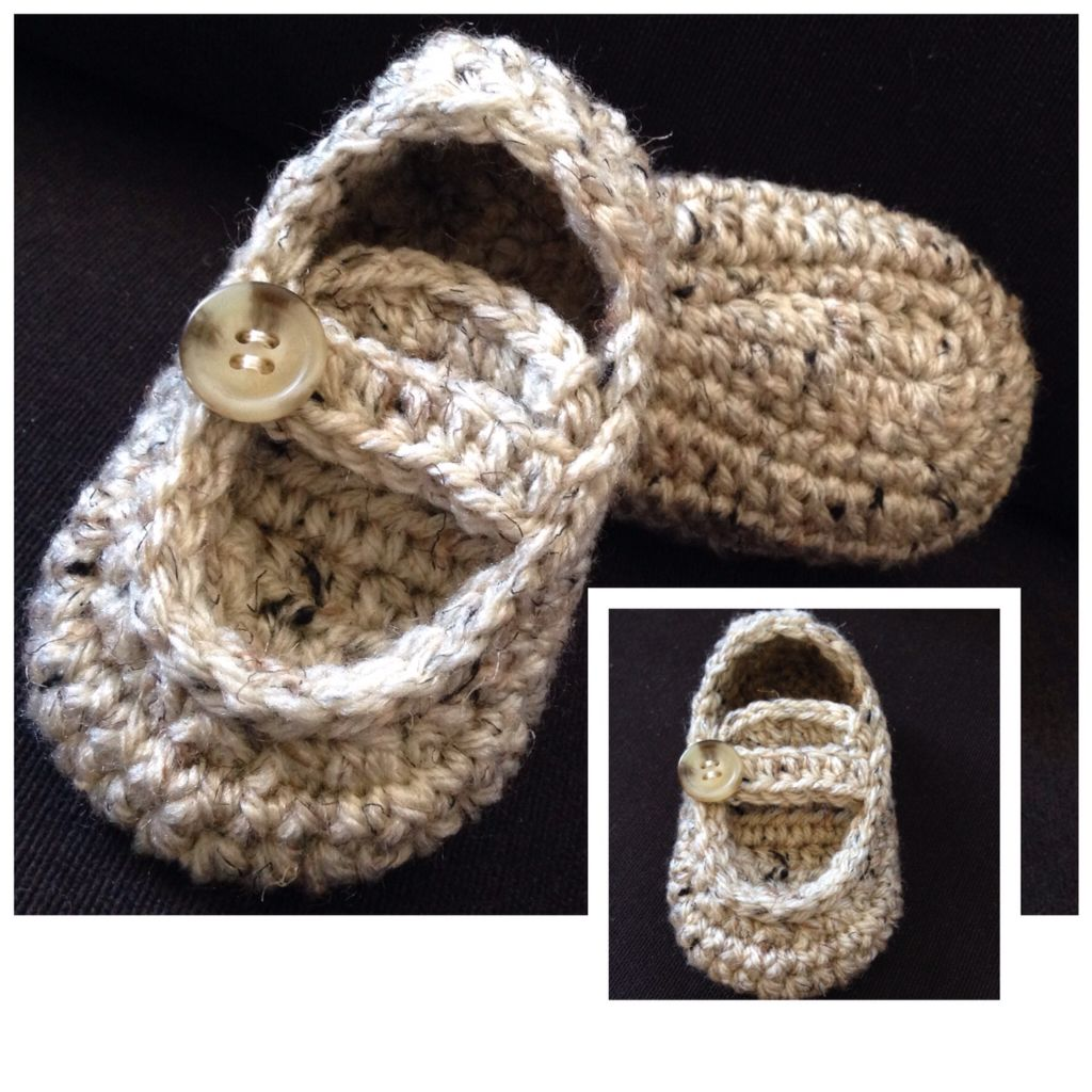 """Crochet """"Grown-ups"""" moccasins for little ones...order now!"""