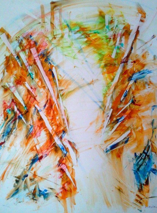 erich kleine (©2014 artmajeur.com/erich-kleine) farbenrausch in acrylmischtechnik