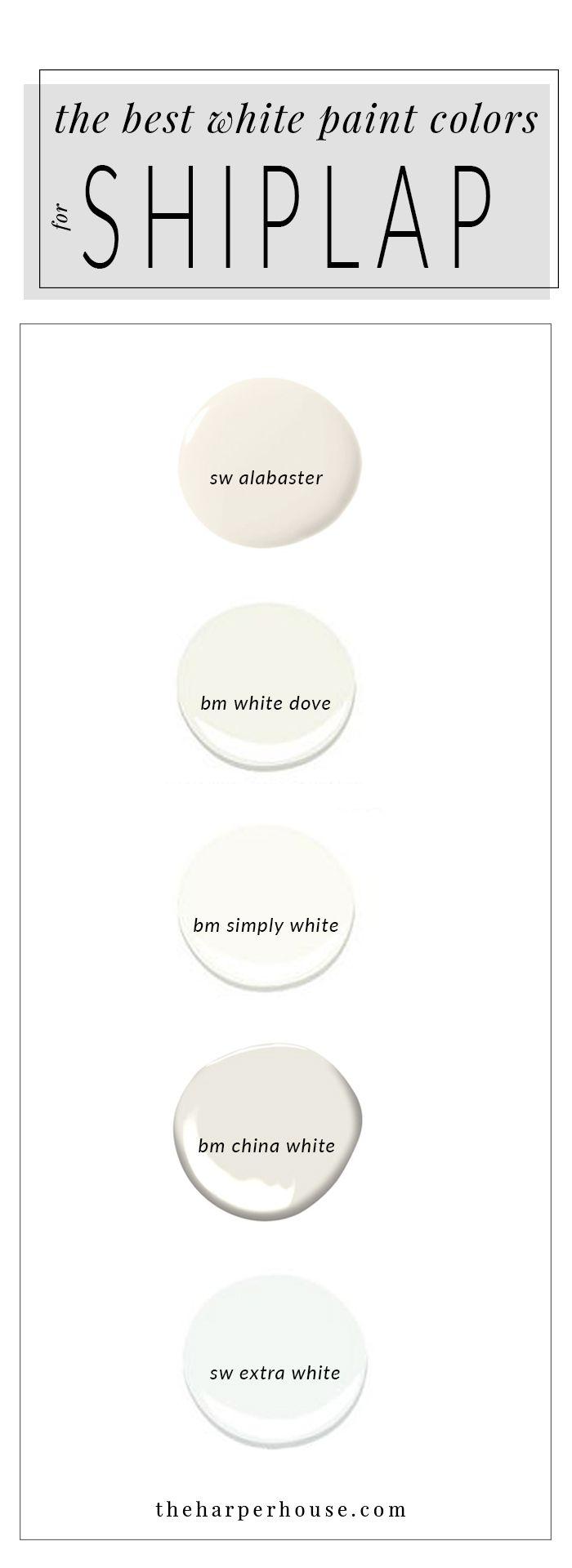 White Paint Colors 5 Favorites For Shiplap White Paint Colors