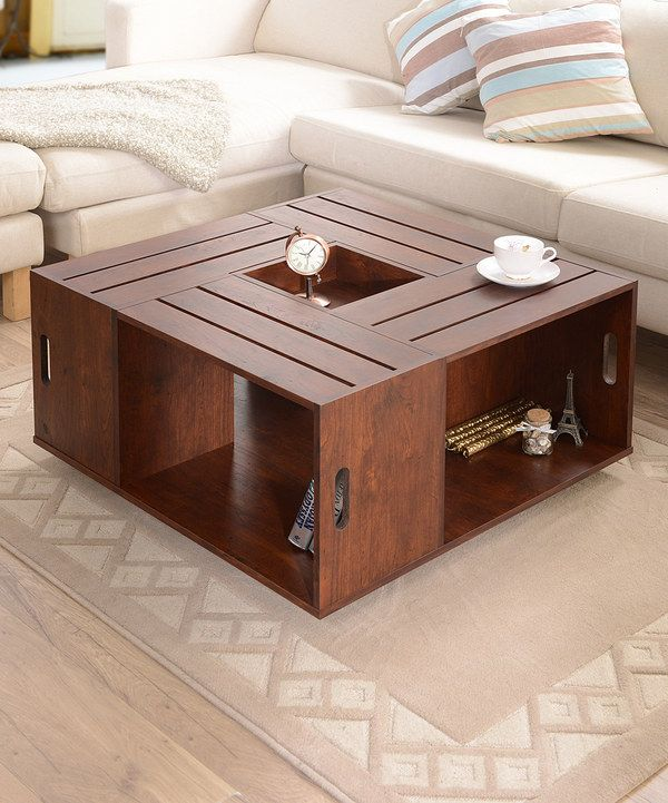 Look At This Vintage Walnut Palermo Crate Style Coffee Table On Zulily Today