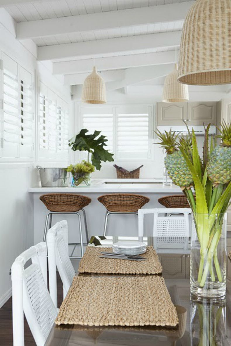 Beach Cottage Kitchen Coastal Cottage Kitchen With Style Love These Plantation Shutters