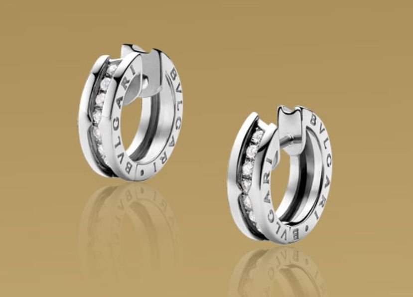 small earrings in white gold with pav diamonds