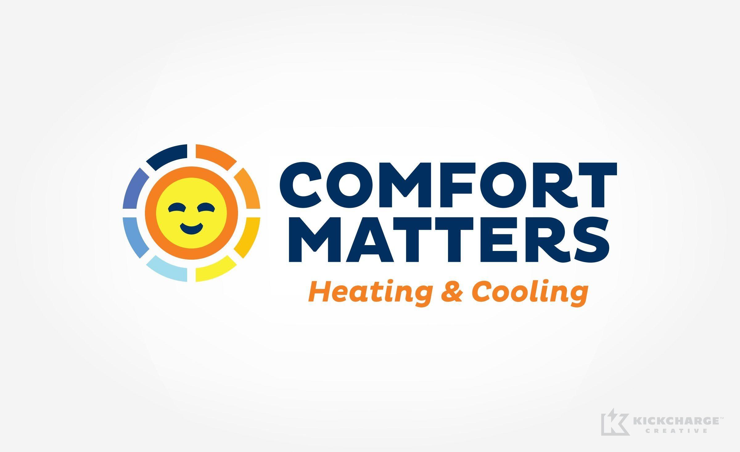 Comfort Matters Kickcharge Creative Small Business Logo