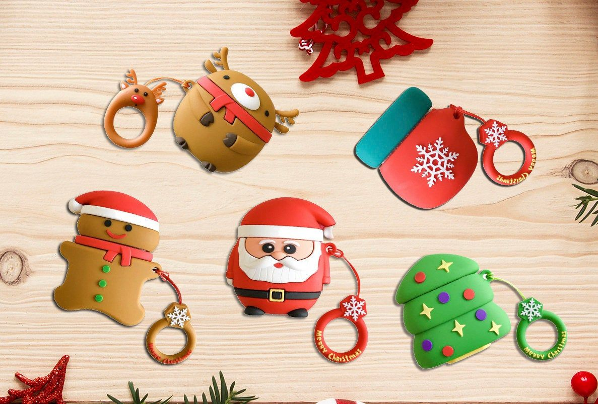 Christmas Airpod Case For Apple Airpods Generation 1 And Generation 2 Models
