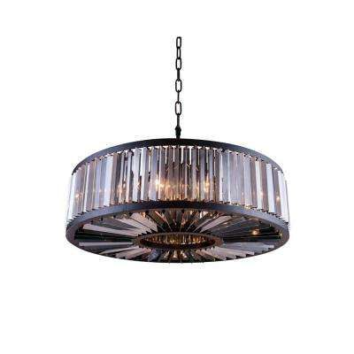 Chelsea 10 light mocha brown chandelier with silver shade grey chelsea 10 light mocha brown chandelier with silver shade grey crystal aloadofball Image collections