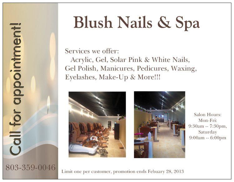 Blush Nails And Spa Red Bank Lexington Sc Love This Place