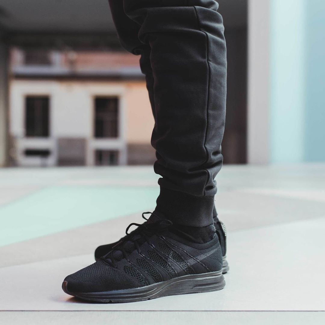5115251d5aeb2 Nike Flyknit Trainer Triple Black